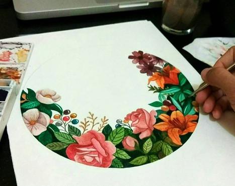 Bisa juga bikin bunga bungaan 😂😂❤️biki
