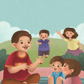 Salah satu ilustrasi untuk buku ilustrasi berjudul LORONG WAKTU