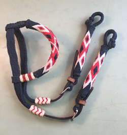 Navy & Red Headstall.jpg