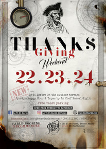 Thanksgiving at Le Ti - flyer