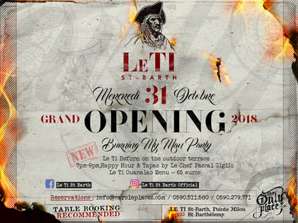 Le Ti Grand Opening 2018 - flyer