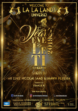 New Year's Eve at Le Ti - Flyer