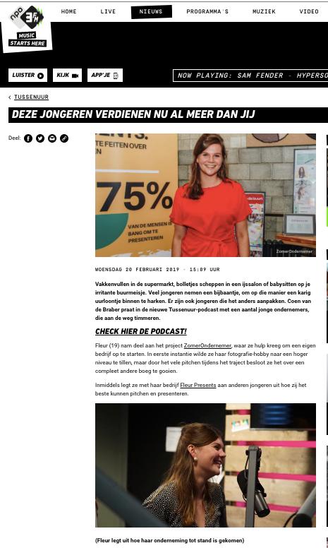 3FM Tussenuur podcast