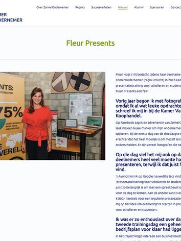 Zomerondernemer Fleur Presents