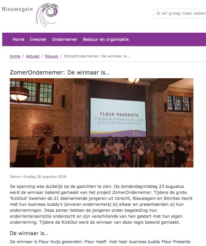 Gemeente Nieuwegein Zomerondernemer