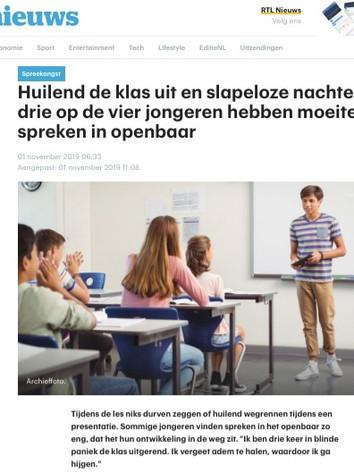 RTL Nieuws - spreekangst