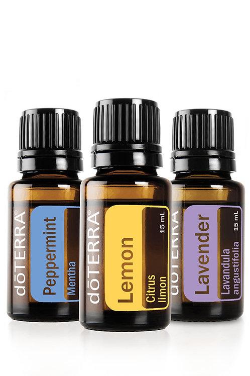 dôTERRA Öl Kombi Pack *Lavendel, Zitrone, Pfefferminze* 15ml