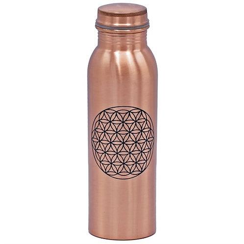 Yogi / Yogini Trinkflasche aus Kupfer