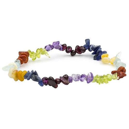Armband 7 Chakrasteinen