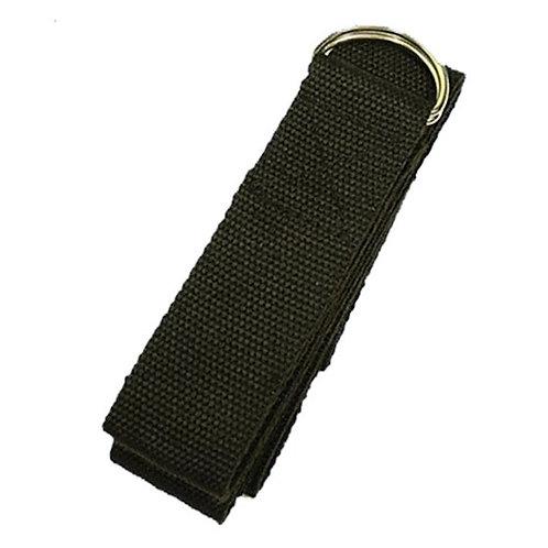 Yogagurt D-Ring Schnalle schwarz Baumwolle