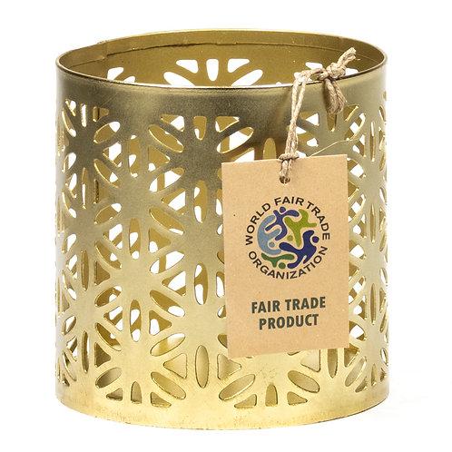 Fair Trade Teelichthalter  *Blume*