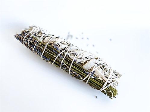 XL Weißer Salbei Stick mit Lavendel