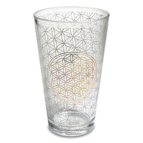 Trinkglas Blume des Lebens