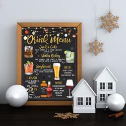 christmas drink menu