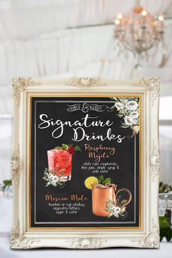 Signature Drinks_white corner flowers
