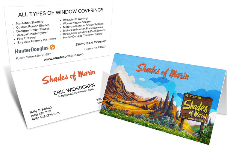Custom Mural Tent Business Card