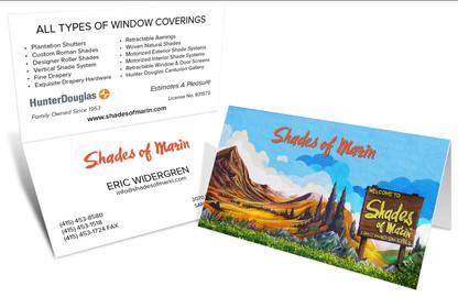 Custom Mural Tent Business Card
