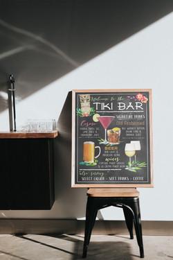 Tiki Bar Menu
