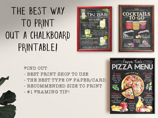 The Best Way To Print a Printable Chalkboard Print