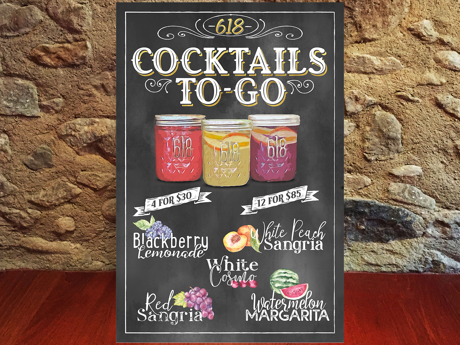 Cocktail menu 618