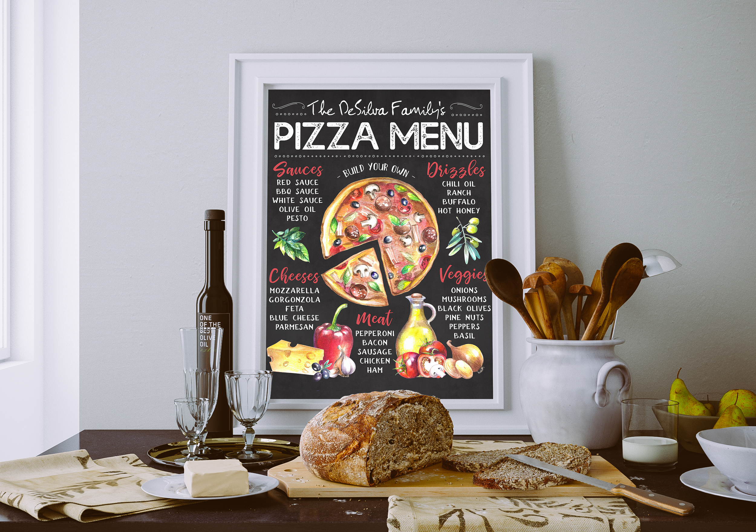 Custom Pizza Menu