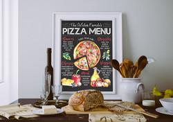 Custom Pizza Menu