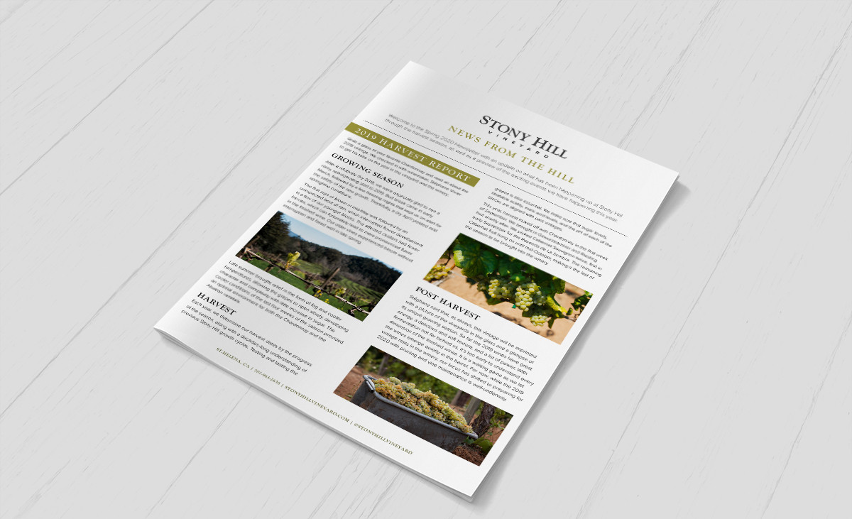 Winery Newsletter