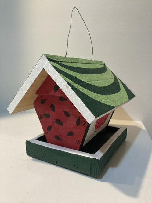 Watermelon bird feeder