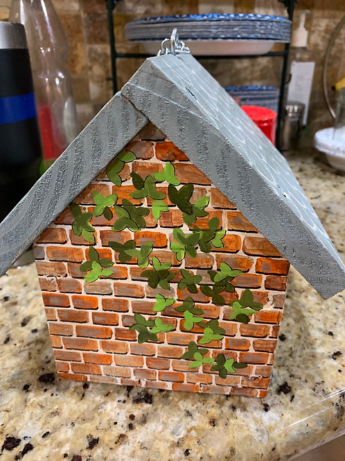 Brick & Ivy birdhouse