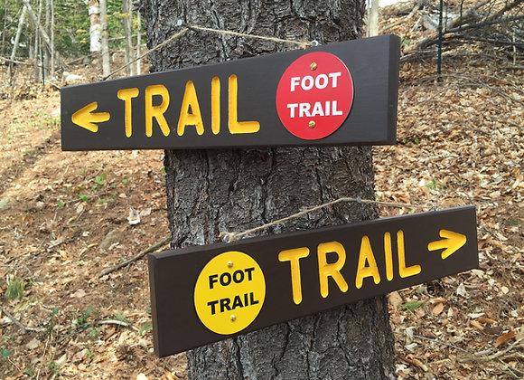 Adirondack style trail signs