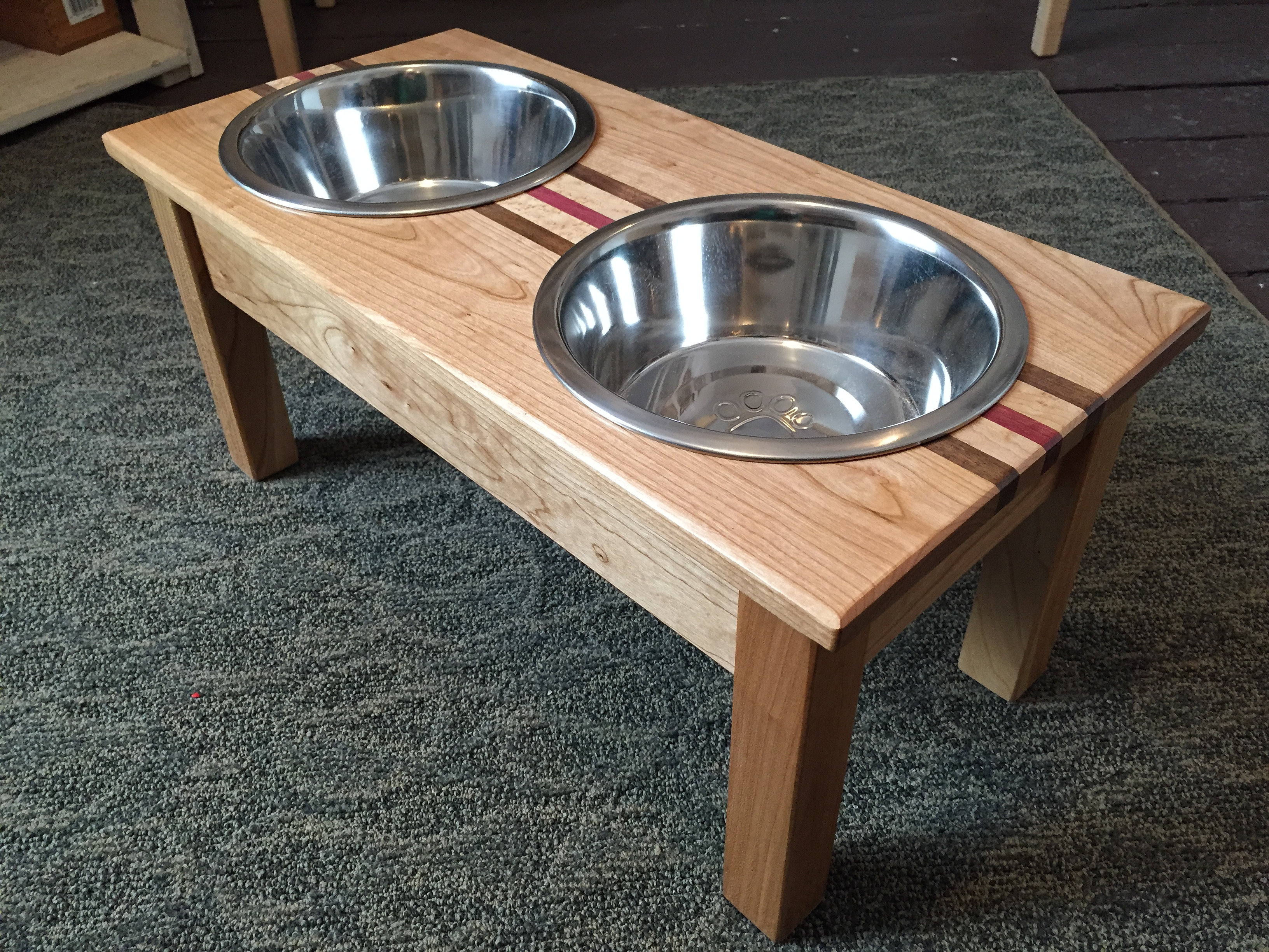 Jmg Woodworking Jeffrey Gavaletz Dog Bowl Stand