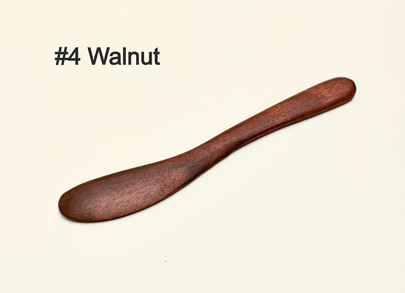 wood spreader knife walnut