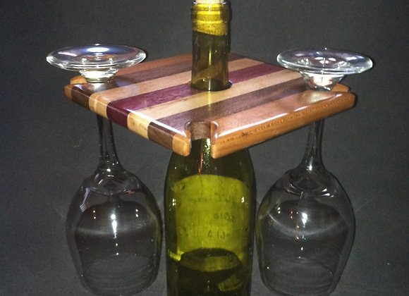 wood wineglass holder