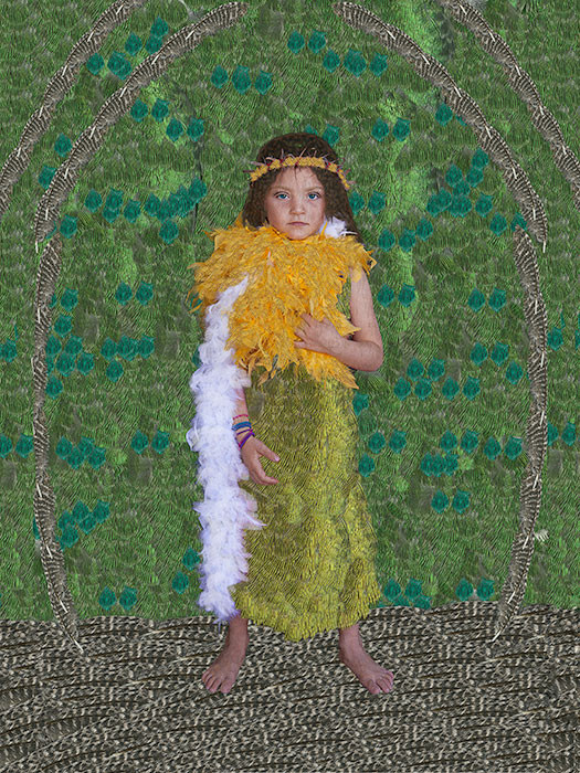 Lucia con boas y corona de espinas/Lucy with Boas and Crown of Thorns