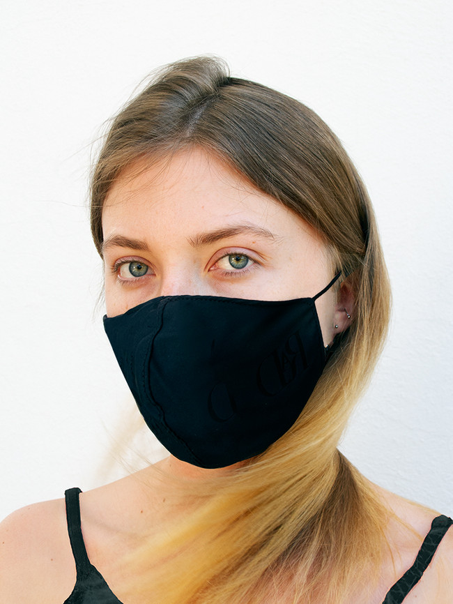 Black Silky Waterproof Style Face Mask