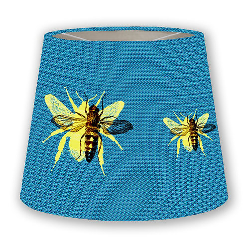Blue Bees Cone Lampshade