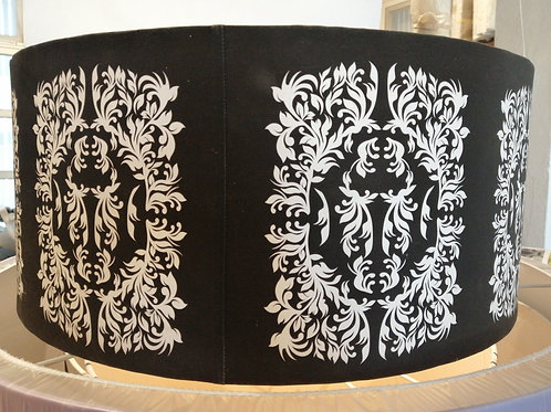 Victorian Damask Drum Lampshade - Display Model
