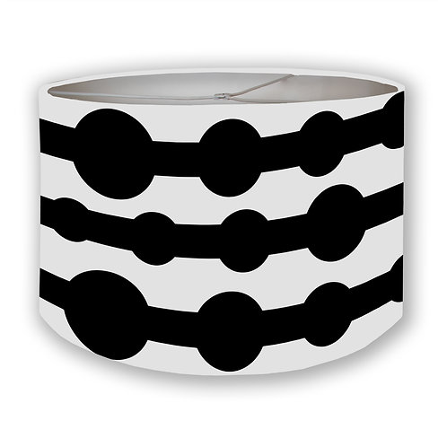 Modernist Circles in B&W Drum Lampshade