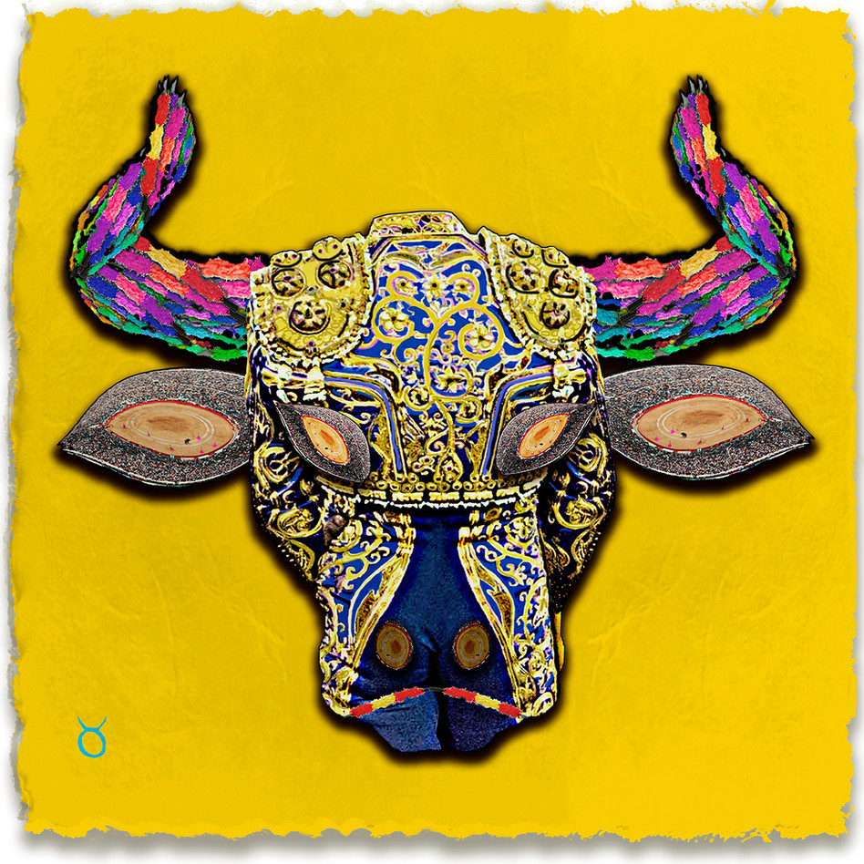 Taurus, Yellow Background