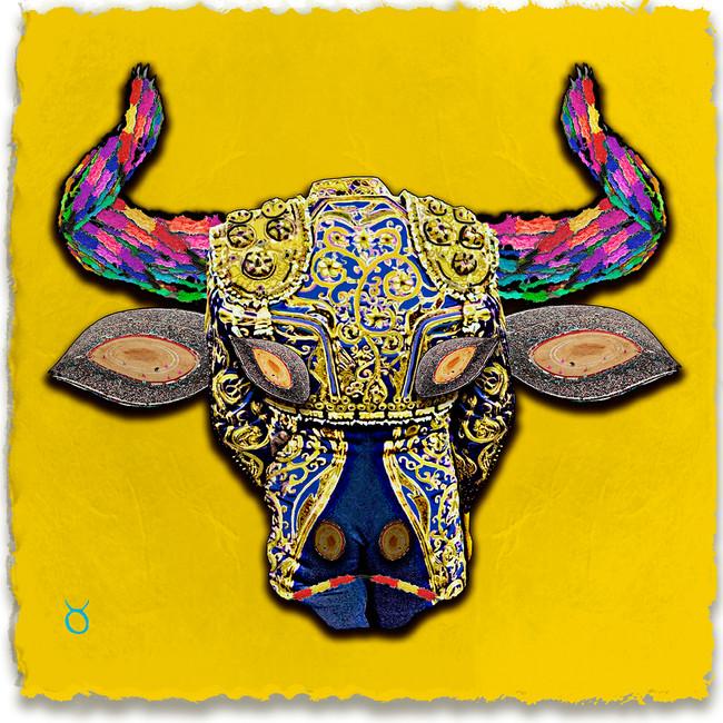 Taurus, Yellow Background
