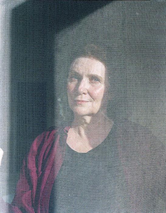Mom Behind Screen Door