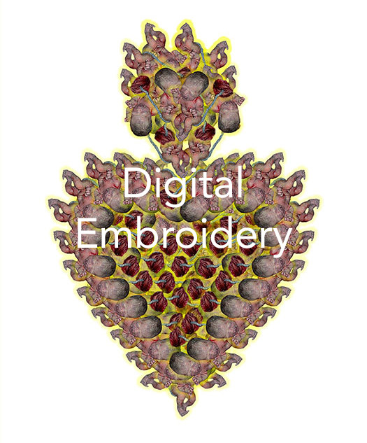 Digitally Embroidered Works