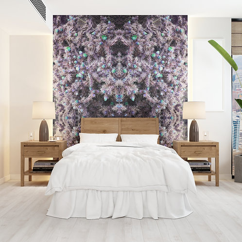 Lavender Cacti Wall Covering