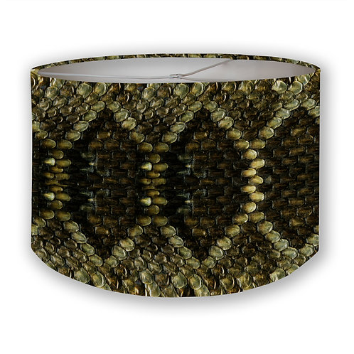 Burnished Scales Drum Lampshade