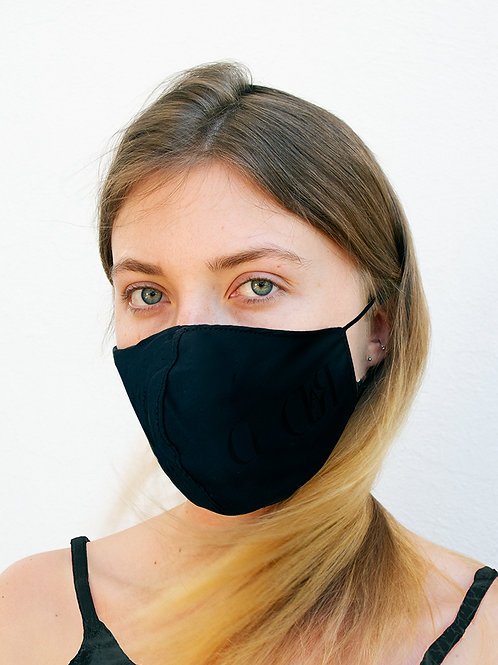 Black Silk Waterproof Style Face Mask