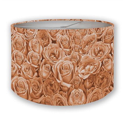 Salmon Toned Roses Drum Lampshades