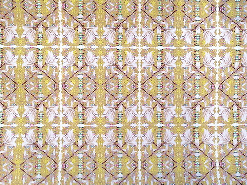 Yellow Braids Display Model Wallcovering Pair (2 panels)