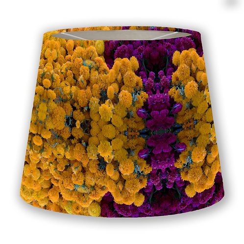 Day of Dead Flowers: Marigolds & Coxcombes Cone Lampshade