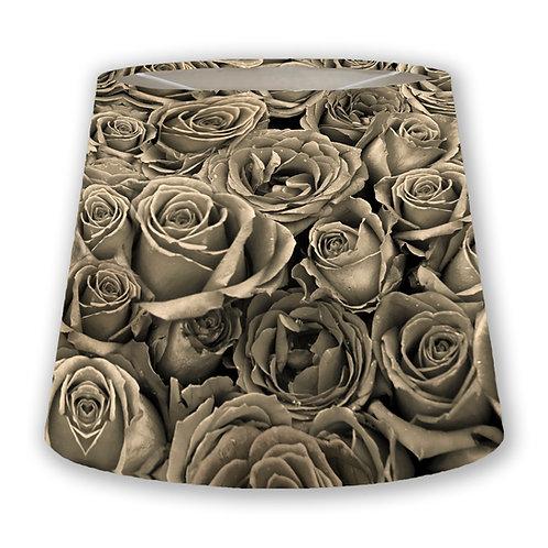 Sepia Roses Cone Lampshade