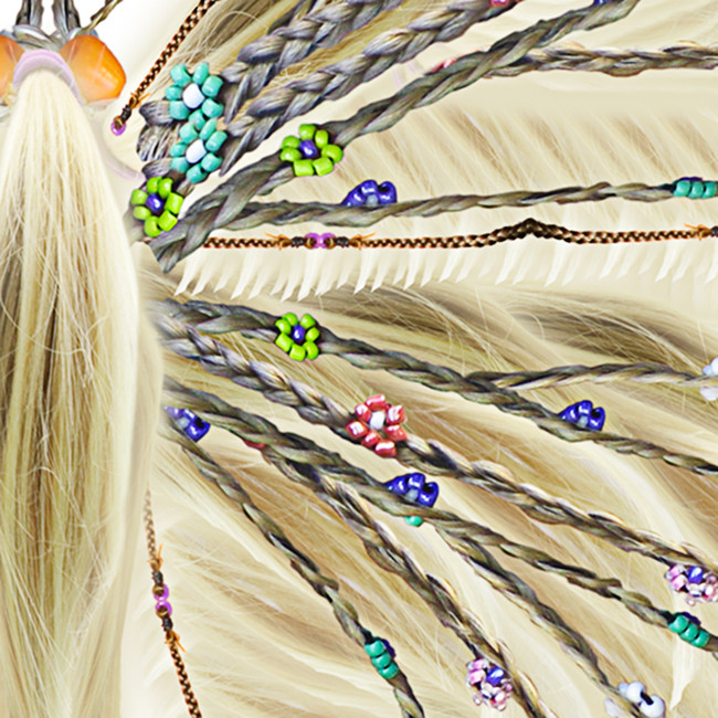Detail, Blonde Beads